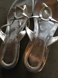 pair of gray leather sandals Fresno, 93722