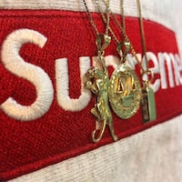 Supreme 14k Gold bar , panther , justice pendants / chain Toronto, M6N