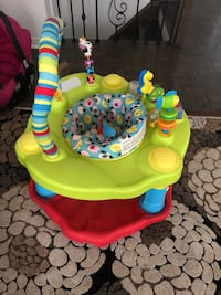 baby's green and orange activity saucer Vaughan, L4H 2W1