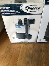 PROFLO SUBMERSIBLE SUMP PUMPS : MODEL PF92342PB AND PF92342 TWO DIFFERENT PUMP BRAND NEW IN THE BOX 100.00 each it worth 180.00 Oxon Hill, 20745