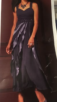 Nicolette satin and chiffon layer gown Fort Myers, 33905