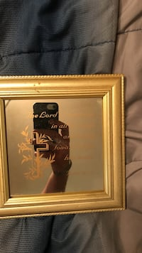 brown wooden framed of quoted mirror Odessa, 79763