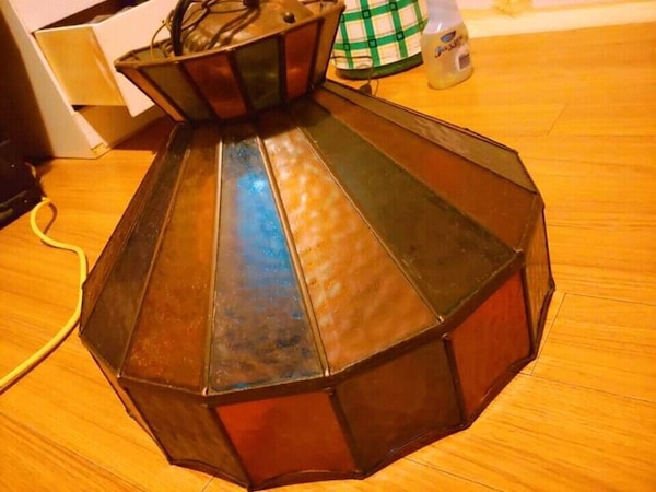 Vintage stain glass lamp shade