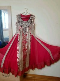 women's red and gold dress Toronto, M9V 4P3