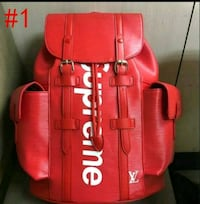 red and black leather tote bag 544 km