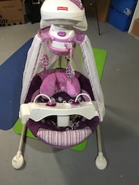 Baby's white and purple cradle n swing Milford, 06460
