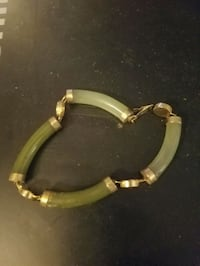 24 it gold jade bracelet  San Antonio, 78232