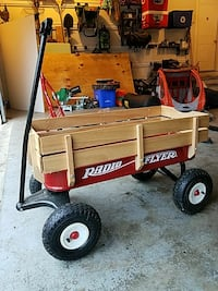 brown and red Radio Flyer wagon Orchard Park, 14127