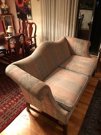 brown and beige fabric loveseat Verona, 07044