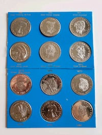 Vintage 1960s-70s Banff Kiwanis Native American Coin Set Calgary, T2R 0S8