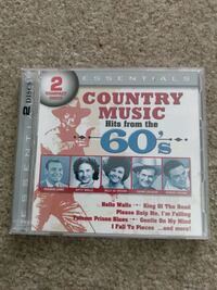 2 compact discs country music hits from the 60s new