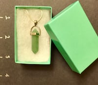 Jade Hexagonal Pendant on Sterling Silver Snake Chain San Antonio, 78209