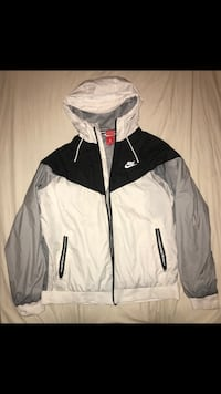 white and black Nike zip-up jacket Sterling, 20165