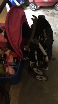 Baby's black and pink stroller Edmonton, T5Y 2R6