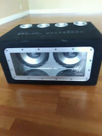 black and gray subwoofer speaker Calgary, T1Y 1T9