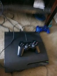 black Sony PS3 console with corded game controller Spring Valley, 91978