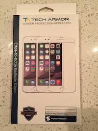Tech Armor ballistic glass screen protector for iPhone 6/6S PLUS