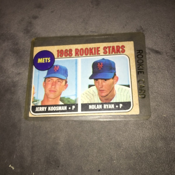Nolan Ryan Jerry Koosman Rookie Card Topps 177 Good Condition Real Card