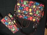 black and red floral tote bag Knoxville, 37922