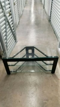 3 tier Solid Glass TV Stand