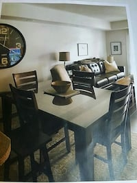rectangular brown wooden table with 8 chairs din Oakville, L6H 0G6
