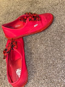 All Red Vans size 10