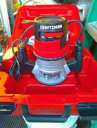 red and black Craftsman router Augusta, 30907