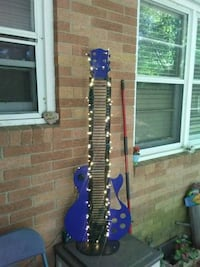 Metal guitar with lights and Bluetooth speakers  Augusta, 30906