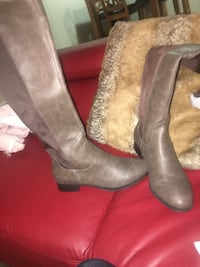 Pair of brown leather boots Calgary, T3B 0C9