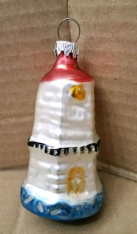 Vintage glass lighthouse ornament  Hagerstown, 21742