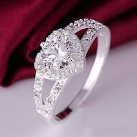 Swarovski HeartWhite Gold Diamond Wedding Bridal Engagement Ring TORONTO