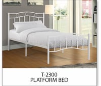 Brand new white metal bed frame warehouse sale  多伦多, M1T 2M5