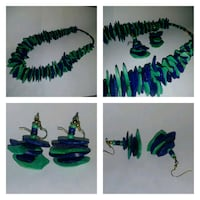 PREOWNED: matching handmade necklace & earings pur Edmonton, T6X 1J9
