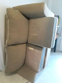 white and brown loveseat Worcester, 01610