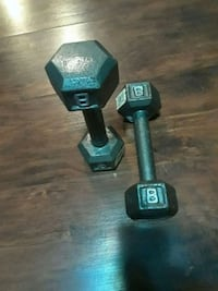 pair of 8 kg gray fixed-weight dumbbells Newark, 07105