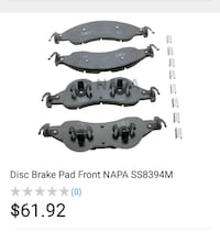 Front premium Brake pads for Ford.  Miami, 33157
