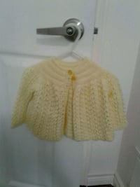 Beautiful, hand-knit cardigan for baby Pickering, L1X 2V5