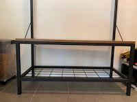 Hallway bench with shoe rack and coat hooks Yonkers, 10701