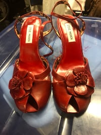 Hot red heels new size 10