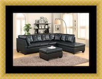 Black sectional with ottoman 33 mi