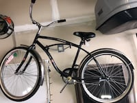 black and white cruiser bike