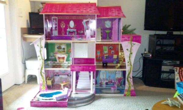 Used Kidkraft Majestic Mansion Dollhouse With Furniture For Sale In