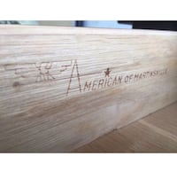 brown wooden American of Martinsville plank