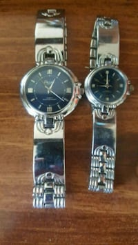 two round silver analog watches with link bracelets Port Hope, L1A 2M4