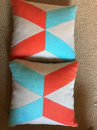 Two red/blue pillows!