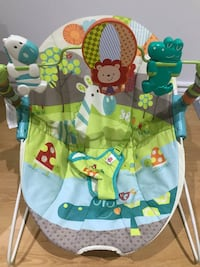 baby's blue and green bouncer Longueuil, J4T 1L3