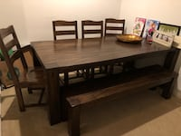Table with 4 chairs and bench Gaithersburg, 20878