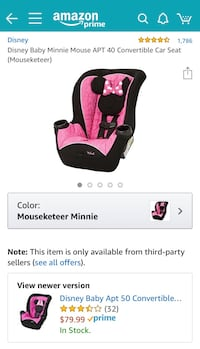 Minnie Mouse car seat  Covington, 70435