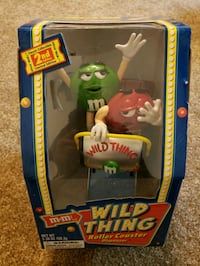 New M&M Wild Thing Roller Coaster Candy Dispenser