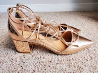Metallic Rose Gold Lace up Shoes